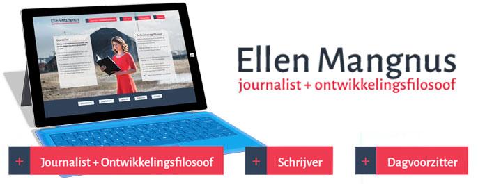 Liesbeth Smit webdesign portfolio Ellen Mangnus