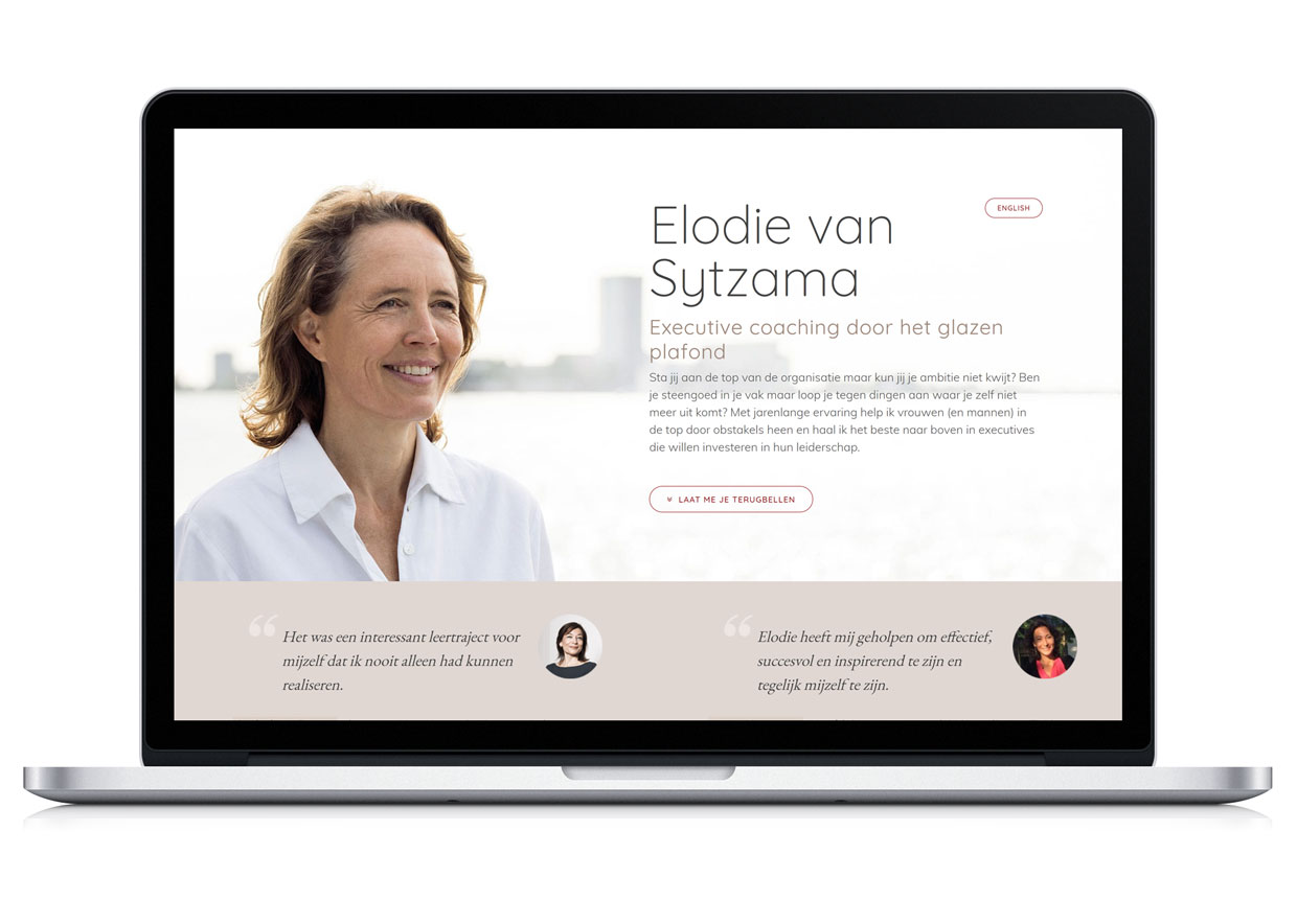 Website Elodie van Sytzama