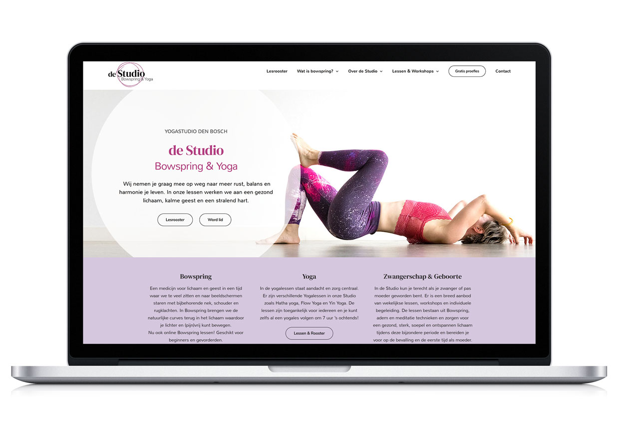 Yogastudio website design bowspring
