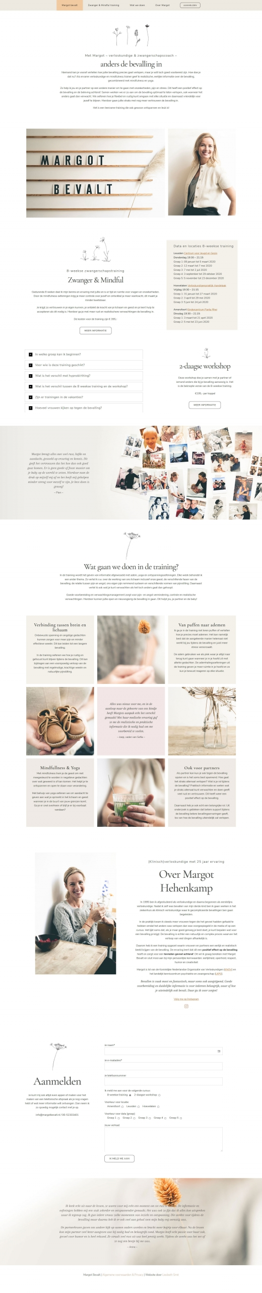 Website Margot Bevalt portfolio webdesign